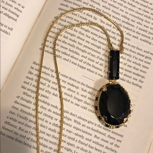 Sorrelli Jet Black Pendant Necklace